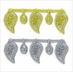 Pearl Beading: Shaped: Lacy Leaf: 10m x 18mm - Full Colour Range